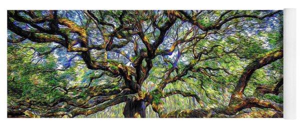 Angel Oak In Digital Oils Yoga Mat