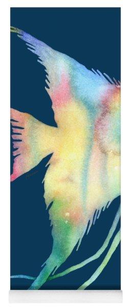 Angelfish I - Solid Background Yoga Mat