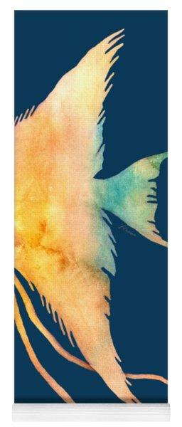 Angelfish II - Solid Background Yoga Mat