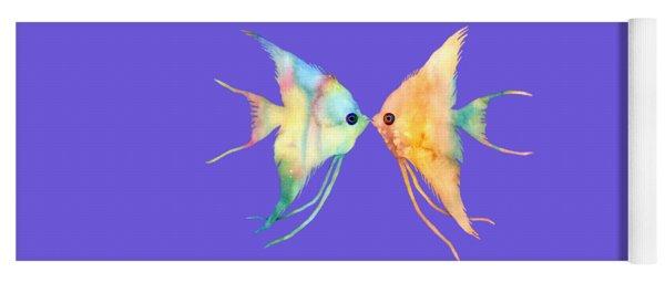 Angelfish Kissing Yoga Mat