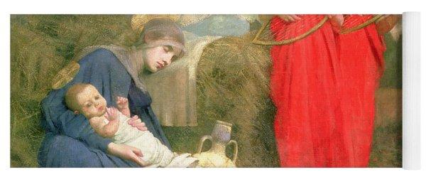 Angels Entertaining The Holy Child Yoga Mat