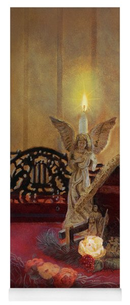Yoga Mat featuring the painting Angels Watching Over by Nancy Lee Moran