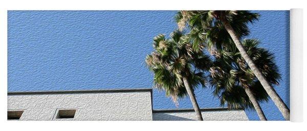 Angles And 3 Palm Tress Yoga Mat