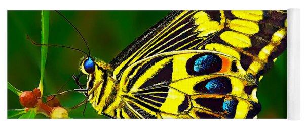 Anise Swallowtail Butterfly Yoga Mat