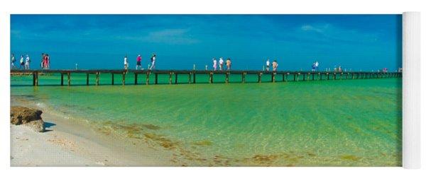 Anna Maria Island Historic City Pier Panorama Yoga Mat