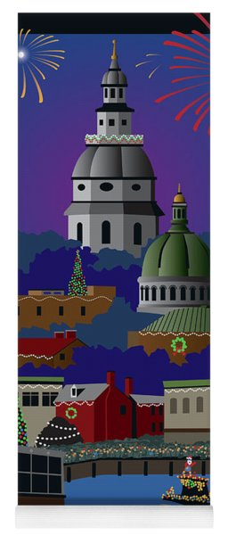 Annapolis Holiday With Title Yoga Mat