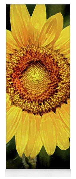 Another Artistic Sunflower Yoga Mat