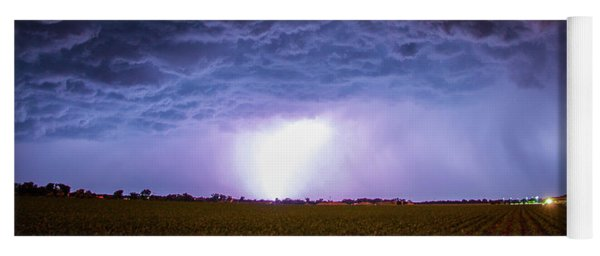 Another Impressive Nebraska Night Thunderstorm 007 Yoga Mat