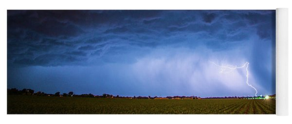 Another Impressive Nebraska Night Thunderstorm 008/ Yoga Mat