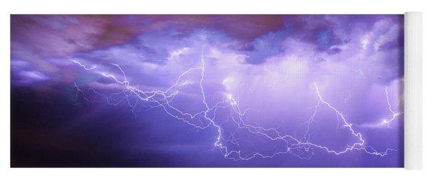 Another Impressive Nebraska Night Thunderstorm 020 Yoga Mat