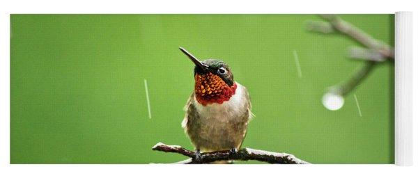 Another Rainy Day Hummingbird Yoga Mat