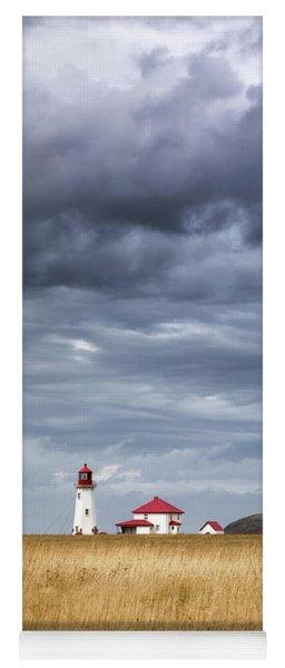 Anse A La Cabane Lighthouse On The Magdalen Islands Yoga Mat