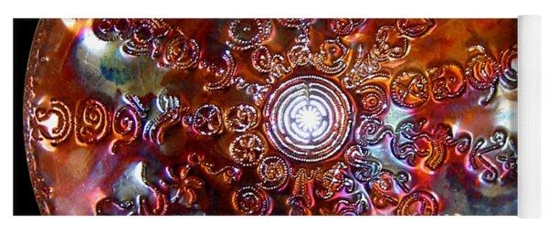 Yoga Mat featuring the sculpture Antares Copper Lightmandala by Robert Thalmeier