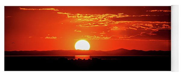 Antelope Island Marina Sunset Yoga Mat
