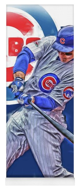 Anthony Rizzo Chicago Cubs Oil Art Yoga Mat