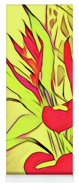 Anthurium Bouquet In Yellow  Yoga Mat