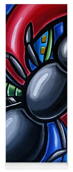 Ant Art Painting Colorful Abstract Artwork - Chromatic Acrylic Painting Yoga Mat