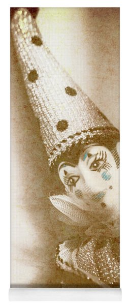 Antique Carnival Doll Yoga Mat
