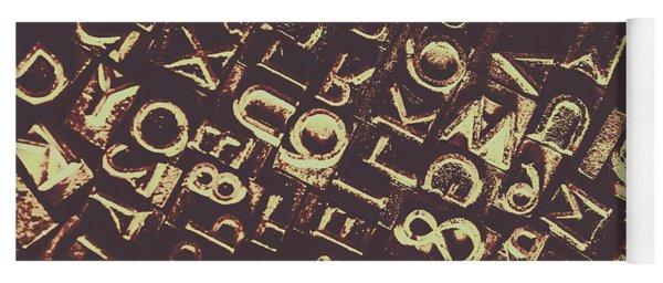 Antique Enigma Code Yoga Mat