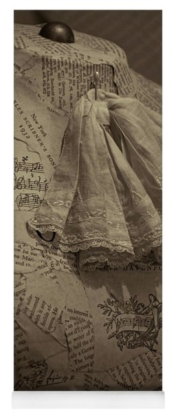 Antique Mannequin With Collage Of Vintage Papers Yoga Mat