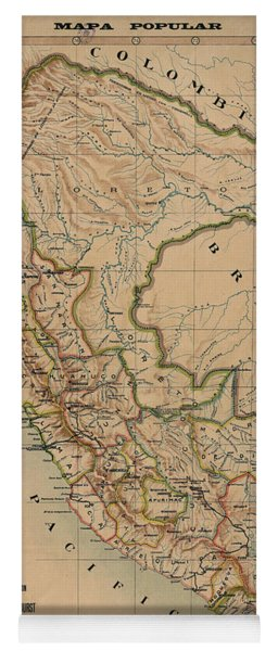 Antique Maps - Old Cartographic Maps - Antique Map Of Peru, South America, 1913 Yoga Mat
