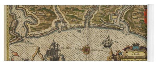 Antique Maps - Old Cartographic Maps - Antique Map Of Portugal -  Portuguese Coast Yoga Mat