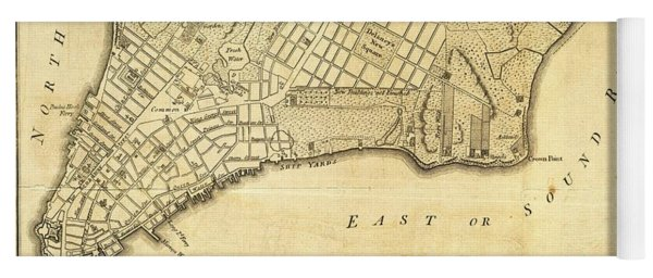 Antique Maps - Old Cartographic Maps - City Of New York And Its Environs Yoga Mat