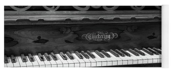 Antique Piano Black And White Yoga Mat