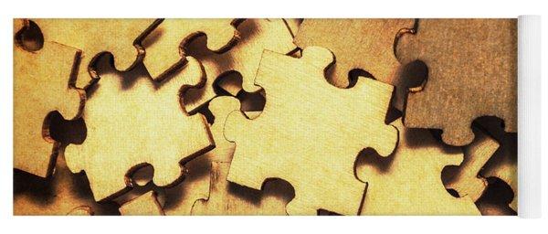 Antique Puzzle Of Missing Links Yoga Mat