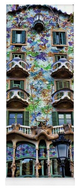 Antoni Gaudi's Casa Batllo Barcelona Spain  Yoga Mat