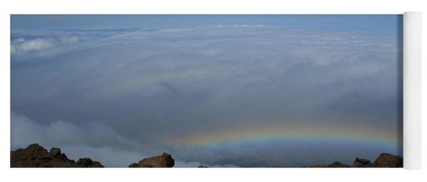 Anuenue - Rainbow At The Ahinahina Ahu Haleakala Sunrise Maui Hawaii Yoga Mat