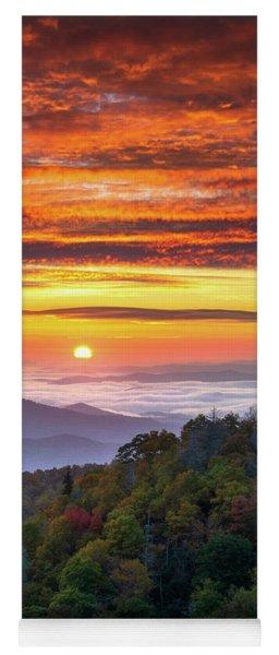 Appalachian Mountains Asheville North Carolina Blue Ridge Parkway Nc Scenic Landscape Yoga Mat