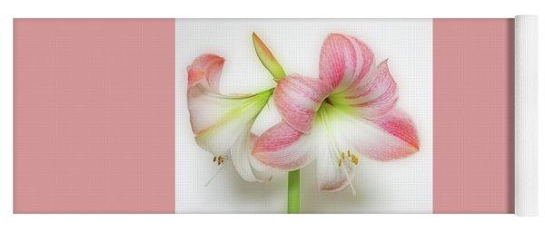 Apple Blossom Amaryllis Yoga Mat