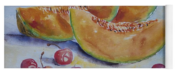 Apple Melon Cherries Yoga Mat
