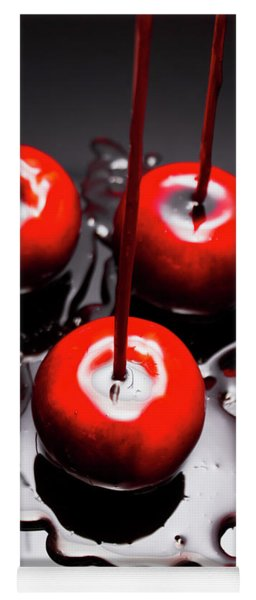Apple Taffy Still Life. Halloween Treats Yoga Mat