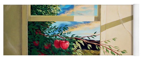 Apple Tree Overflowing Yoga Mat