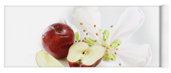 Apples And Blossom Yoga Mat