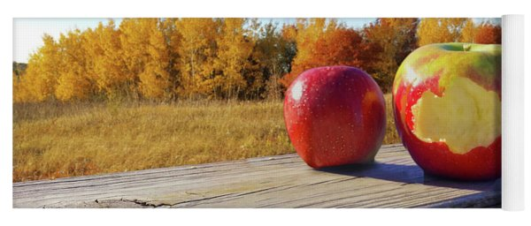 Apples On A Hayride Yoga Mat
