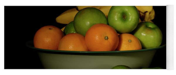 Yoga Mat featuring the photograph Apples, Oranges And Bananas 1 by Angie Tirado