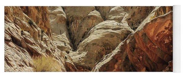 Approaching Narrows Of Bell Slot Canyon Yoga Mat