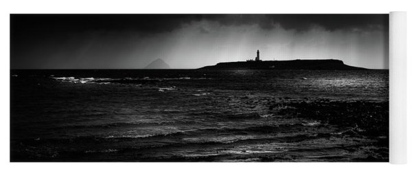 Approaching Storm, Ailsa Craig And Pladda Island Yoga Mat