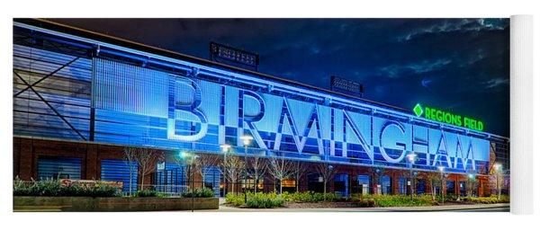 April 2015 -  Birmingham Alabama Baseball Regions Field At Night Yoga Mat
