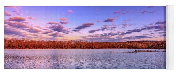 April Evening At The Lake Yoga Mat