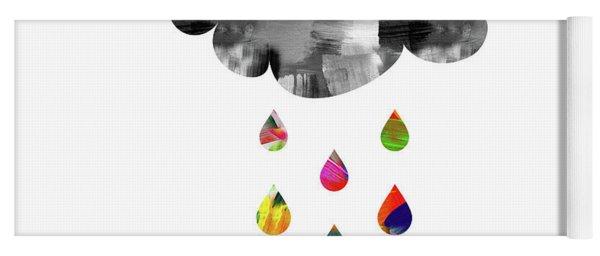 April Showers- Art By Linda Woods Yoga Mat