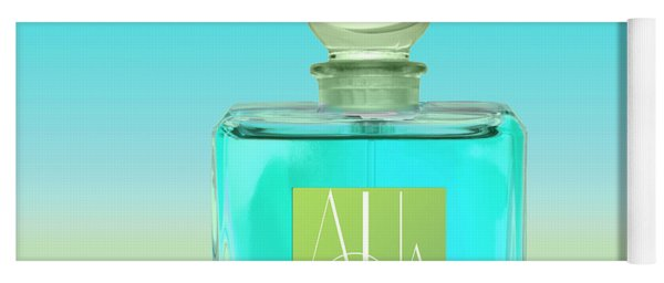 Aqua Art Deco Perfume Bottle Yoga Mat