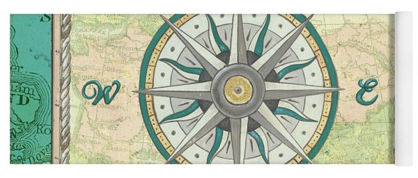 Aqua Maritime Compass Yoga Mat