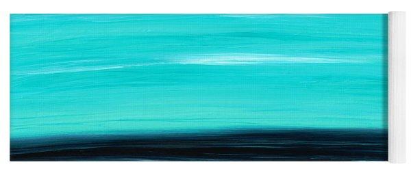 Aqua Sky - Bold Abstract Landscape Art Yoga Mat