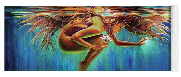 Aquarian Rebirth II Divine Feminine Consciousness Awakening Yoga Mat