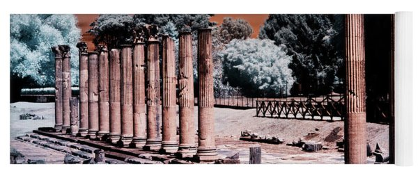 Yoga Mat featuring the photograph Aquileia, Roman Forum by Helga Novelli