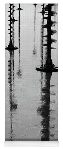 Arbres Lumineux In The Rain Paris  Yoga Mat